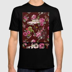 Ecto Floral Black LARGE Mens Fitted Tee