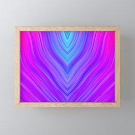 stripes wave pattern 3 sm120i Framed Mini Art Print