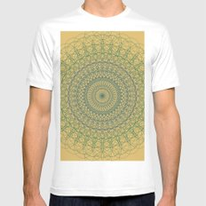 Ornament Groovesky White MEDIUM Mens Fitted Tee