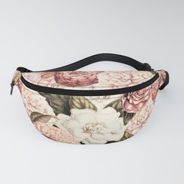 Vintage & Shabby floral camellia flowers watercolor pattern Fanny Pack