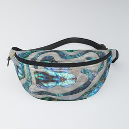 Abstract Ripple  Abalone and Mother of pearl Fanny Pack