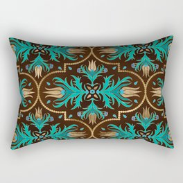 Turkish tulip - Ottoman tile 16 Rectangular Pillow