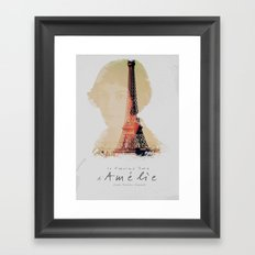 Amelie, the fabulous life of Amélie Poulain, movie poster, le fabuleux destin d'Amelie Poulain Framed Art Print