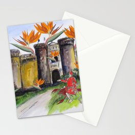 Castle Nuovo Under Attack Stationery Cards