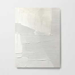 Relief [1]: an abstract, textured piece in white by Alyssa Hamilton Art Metal Print