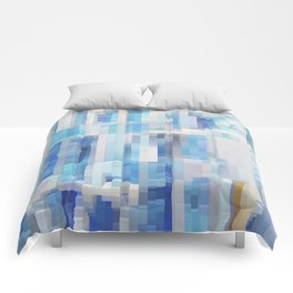 Abstract blue pattern 2 Comforters
