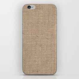 Burlap Texture iPhone Skin