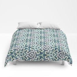 Blue Maze Comforters