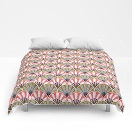 feather plume art deco fan Comforters