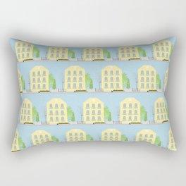 Yellow houses Rectangular Pillow