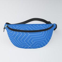 Flickr Blue - blue - Modern Vector Seamless Pattern Fanny Pack