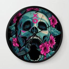 Inflorized Skull Wall Clock