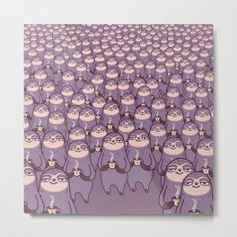 Sloths -tastic! Metal Print