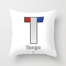 Tango - Navy Code Throw Pillow