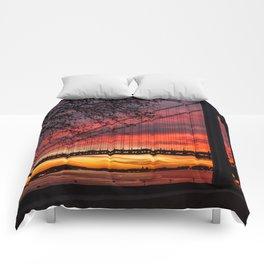 Sunrise at the Bridge Comforters