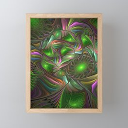 Colorful and Luminous, Abstract Fractal Art Framed Mini Art Print