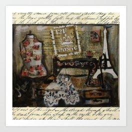 grandma's singer Art Print