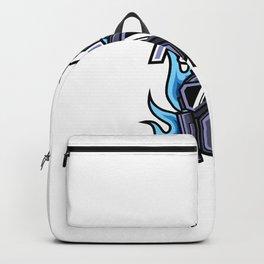 Toxic Mask Fire Mascot Gaming Logo Club Team Squad Backpack