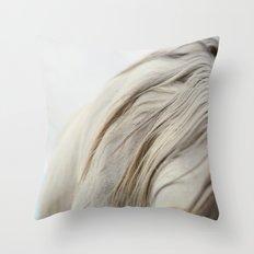 The White Mare Throw Pillow