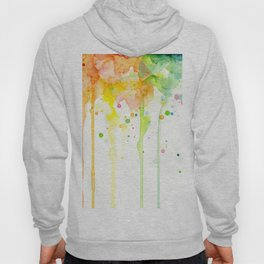 Rainbow Watercolor Pattern Texture Hoody
