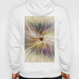 Floral Fantasy, Abstract Fractal Art Hoody