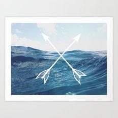 Deep sea arrows Art Print