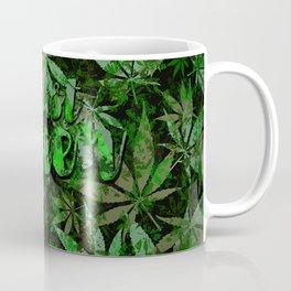 Just green - cannabis plant leaves #society6 Coffee Mug