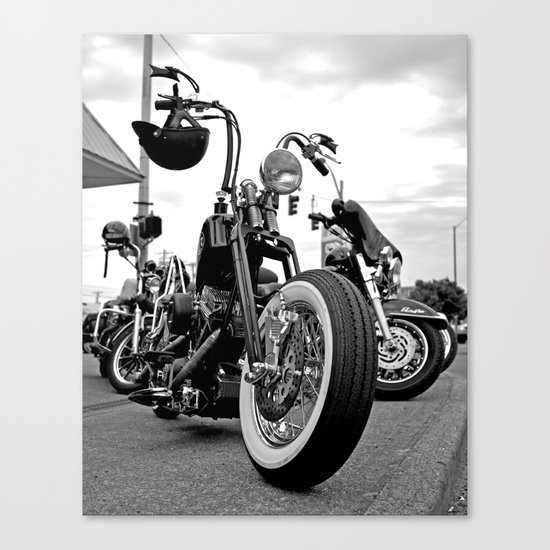 Roadside chopper Canvas Print