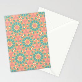 Vintage colors islamic geometric pattern Stationery Cards