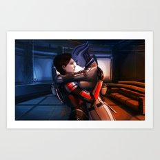 Mass Effect - Safe in your arms Art Print
