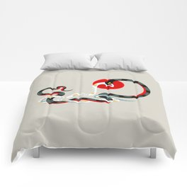 Snake and flowers 3 Comforters