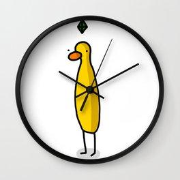 Plumbob Sim Duck   Veronica Nagorny Wall Clock