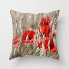 Poppies  - JUSTART © Throw Pillow