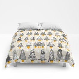 retro rockets mono Comforters