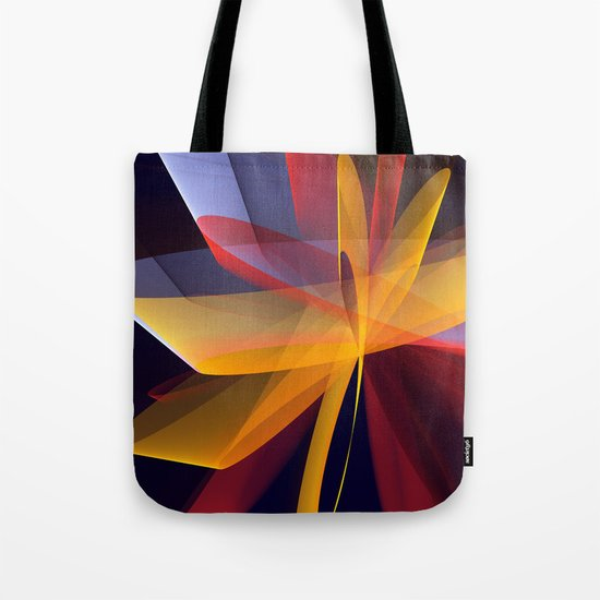 Transparent foldings, modern colourful abstract Tote Bag