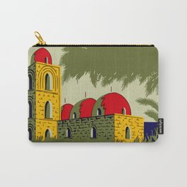 Retro Palermo Sicily hotel travel ad Carry-All Pouch