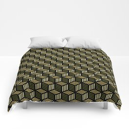 Cubic Olive Comforters