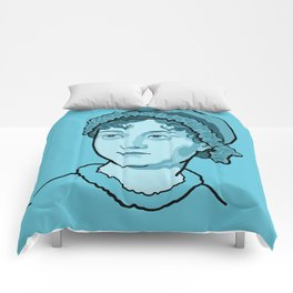 Jane Austen Blue Comforters