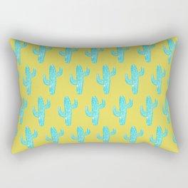 Linocut Cacti Desert Rectangular Pillow