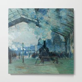 "Claude Monet ""Arrival of the Normandy Train, Gare Saint-Lazare"" Metal Print"
