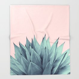 Agave Vibes #12 #tropical #decor #art #society6 Throw Blanket