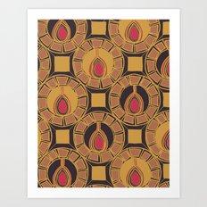Belle Pattern Art Print