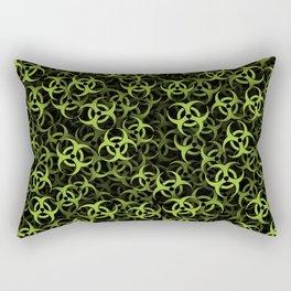 Biohazard (green on black) Rectangular Pillow
