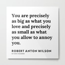 16    | 200218 | Robert Anton Wilson Quotes | Metal Print