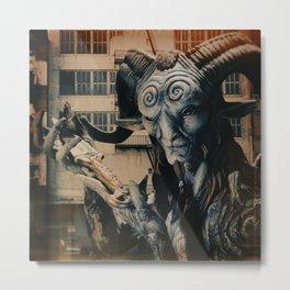 Horn Guy Presenting KNife Metal Print