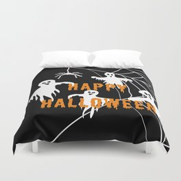 Monsters Happy Halloween Duvet Cover