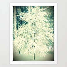A Perfectly Snowy Day Art Print
