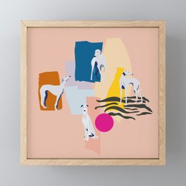 Greyhound colorful abstract pattern Framed Mini Art Print