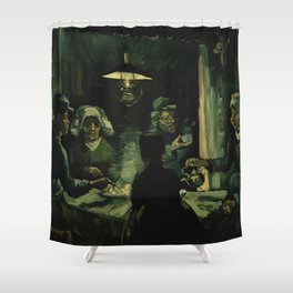 Vincent Van Gogh The Potato Eaters Shower Curtain