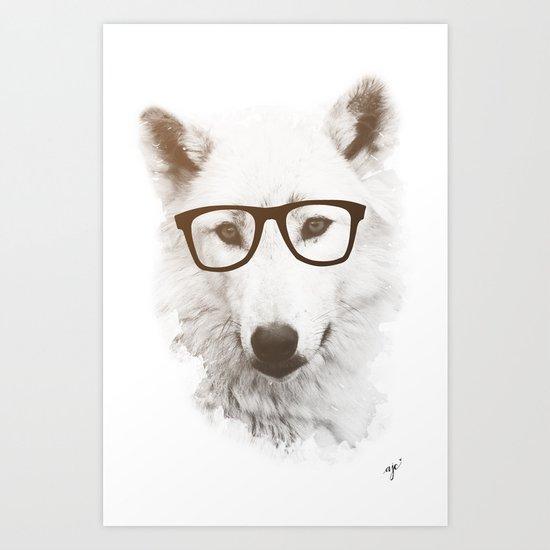 SMART WOLF Art Print